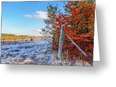 Fenced Autumn Greeting Card