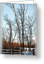Fenced In Landscape Greeting Card