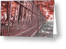 Fenced In Red Greeting Card