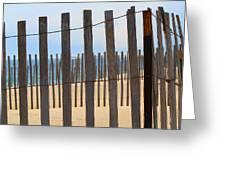 Fenced Off Beach Greeting Card