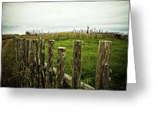 Fences In A Stormy Light Greeting Card