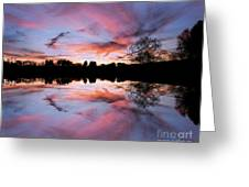 Fencing Reflections Greeting Card