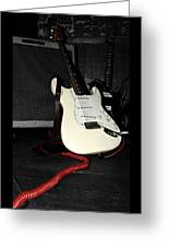 Fender Guitar And Amp In Selective Color Greeting Card