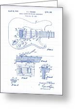 Fender Guitar Patent Drawing Greeting Card