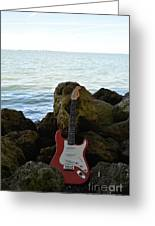 Fender On The Rocks Greeting Card