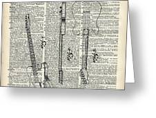 Fender Telecaster Guitar Over Dictionary Page Greeting Card by Anna W