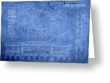 Fenway Park Blueprints Home Of Baseball Team Boston Red