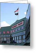 Fenway Park Centennial Greeting Card by Loud Waterfall Photography Chelsea Sullens