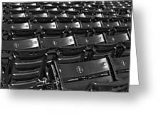 Fenway Park Red Bleachers Bw Greeting Card