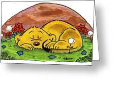 Ferald Sleeping Greeting Card