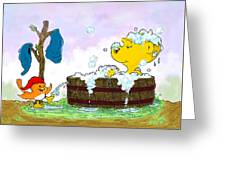 Ferald's Bubble Bath Greeting Card