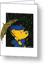 Ferald's Taste Of Rain Greeting Card
