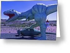 Ferious Dinosaur Trex Greeting Card