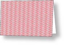 Fermat Spiral Pattern Effect Pattern Red Greeting Card