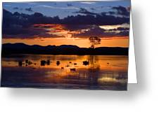 Fern Ridge Sunset Greeting Card
