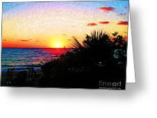 Fernandez Bay Sunset Greeting Card