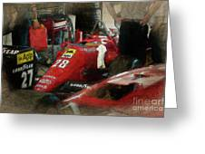 Ferrari 156/85 Greeting Card