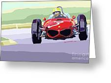 Ferrari 156 Dino 1962 Dutch Gp Greeting Card by Yuriy  Shevchuk