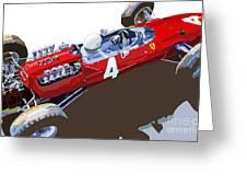 Ferrari 158 F1 1965 Dutch Gp Lorenzo Bondini Greeting Card by Yuriy Shevchuk