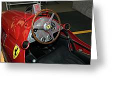 Ferrari 166 F2 Cockpit Museo Ferrari Greeting Card