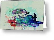 Ferrari 250 Gtb Racing Greeting Card