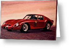 Ferrari 250 Gto 1962 Painting Greeting Card