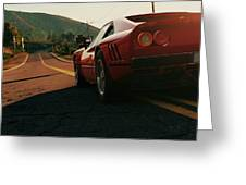 Ferrari 288 Gto At Sunset - 5 Greeting Card