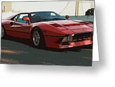 Ferrari 288 Gto - Powerslide Greeting Card
