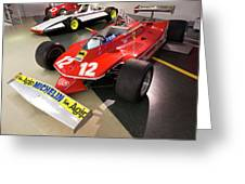 Ferrari 312t4 Front Left Museo Ferrari Greeting Card