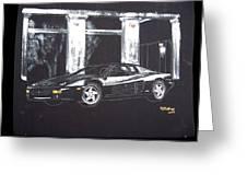 Ferrari 348 Gtr Testarrossa Greeting Card