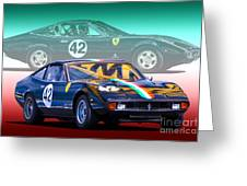 Ferrari 365 Gtc4 Greeting Card