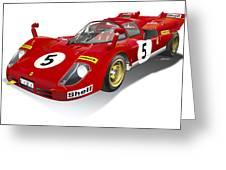 Ferrari 512 Illustration Greeting Card