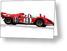 Ferrari 512s Mario Andretti 1970 Greeting Card