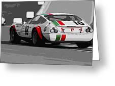 Ferrari Daytona 365 Gtb4 - Italian Flag Livery Greeting Card