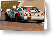 Ferrari Daytona - Italian Flag Livery Greeting Card