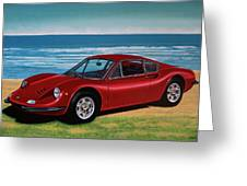 Ferrari Dino 246 Gt 1969 Painting Greeting Card