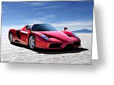 Ferrari Enzo Greeting Card