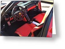 Ferrari Enzo Interior Greeting Card