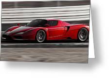 Ferrari Enzo - Rosso Corsa Greeting Card