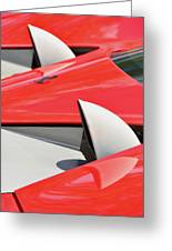 Ferrari Exhaust Pipes Greeting Card
