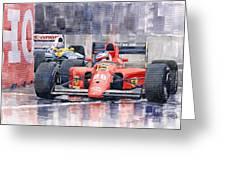 1991 Ferrari F1 Jean Alesi Phoenix Us Gp Arizona 1991 Greeting Card