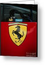 Ferrari F1 Sidepod Emblem Greeting Card