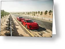 Ferrari F40 And F50 Greeting Card