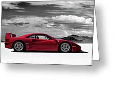 Ferrari F40 Greeting Card by Douglas Pittman