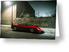 Ferrari F40 Lurking Greeting Card