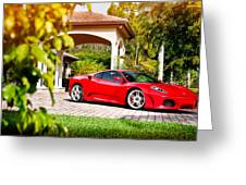 Ferrari F430 On Adv1 Wheels 2 Greeting Card