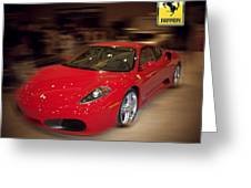 Ferrari F430 - The Red Beast Greeting Card