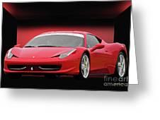 Ferrari F458 'iconic Italian Sports Car' Greeting Card