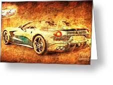 Ferrari F60 America, Golden Poster, Birthday Gift For Men Greeting Card