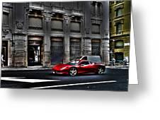 Ferrari In Rome Greeting Card